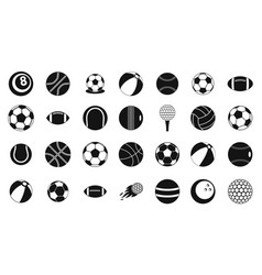ball icon set simple style vector image