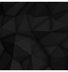 Black Abstract Polygonal Background vector image