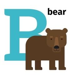 English animals zoo alphabet letter B vector image vector image