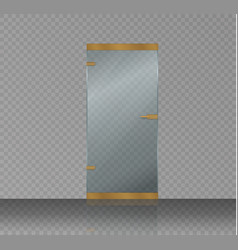 glass door isolated on a transparent background vector image vector image