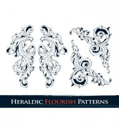 heraldic flourish patterns vector image vector image