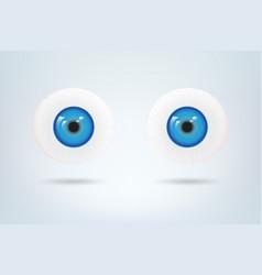 human blue eyes balls pupil medical visual vector image