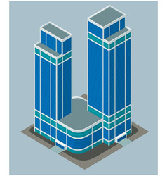 isometric modern building vector image