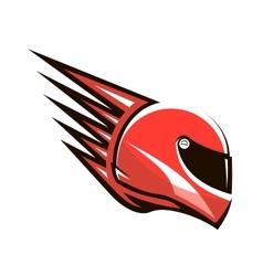 Racing helmet with speed spikes vector image