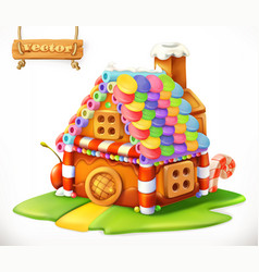 sweet house 3d icon vector image vector image