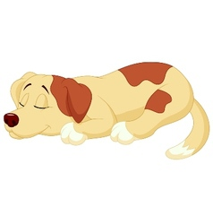 Cute dog cartoon sleeping vector image vector image