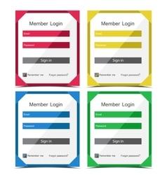 member login vector image