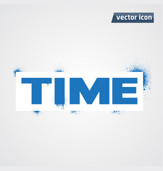 time spray vector image