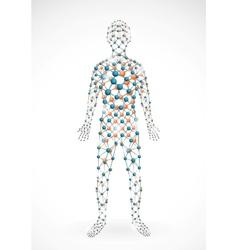 Molecular man vector image