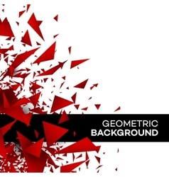 Red polygon background flyer template brochure vector image