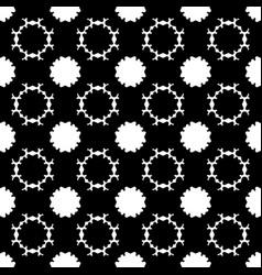 Seamless pattern simple dark floral background vector
