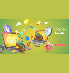 3d conceptual online money vector