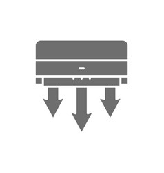 Air conditioning fresh clearing grey icon vector