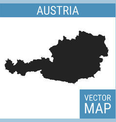 Austria map with title vector
