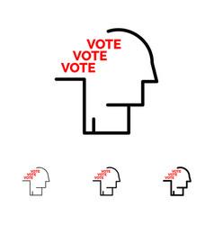 Ballot election poll referendum speech bold and vector