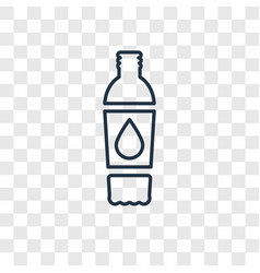 beverage concept linear icon isolated on vector image