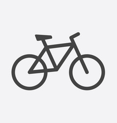 bike icon on white background bicycle in flat vector image