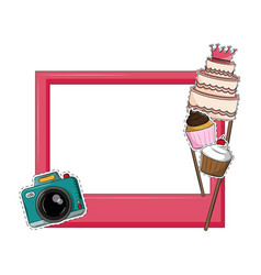 Birthday photo booth prop vector