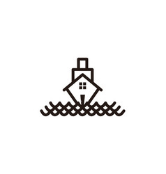 boat house logo vector image
