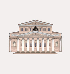 Bolshoy theatre building moscow russia russian vector