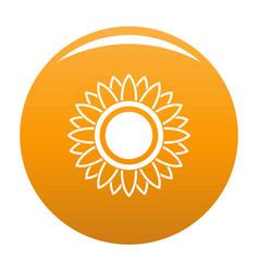 Bright sunflower icon orange vector