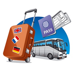 Bus tourism vector