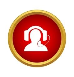 Call center operator icon simple style vector