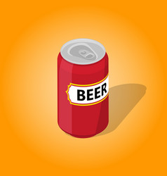 can of beer with a shadow vector image