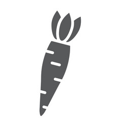 carrot glyph icon vegetable and diet vegetarian vector image