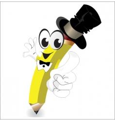 cartoon pencil vector image