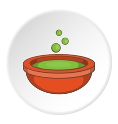 Cauldron of brew icon cartoon style vector