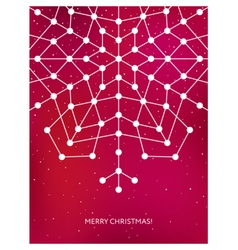 Christmas card with geometric snowflake New year vector image