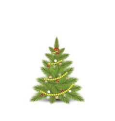 christmas tree with fir vector image