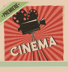 cinema premiere movie retro poster vector image