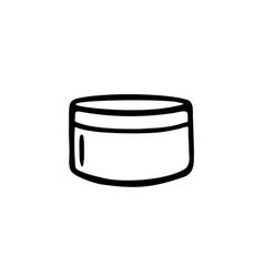 Cream cosmetics doodle vector