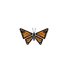 creative orange butterfly logo vector image