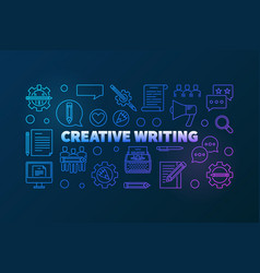 creative writing modern outline colored vector image