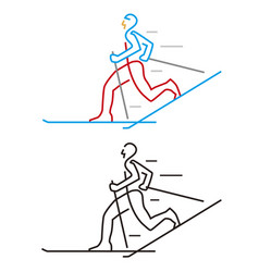 Cross-country skier vector