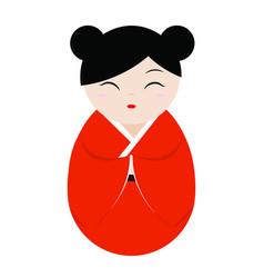 cute geisha character vector image