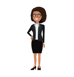 Cute office girls in smart casual fashion vector