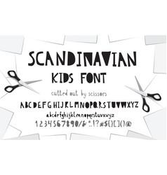 cutout paper font vector image