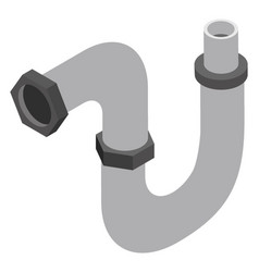 Elbow pipe vector