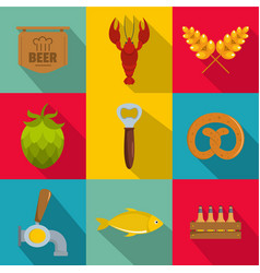Epicure icons set flat style vector