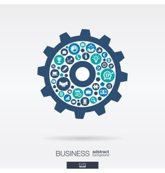 flat icons in a cogwheel shape business vector image