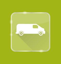 flat style minivan car silhouette icon vector image