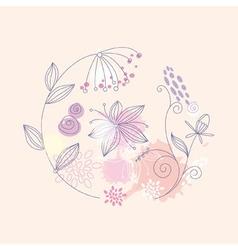 Floral flower background vector