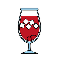 glass of wine icon image vector image