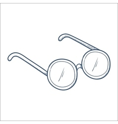Glasses isolated on white vector image