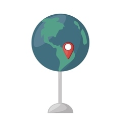 globe map location continent vector image
