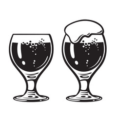 goblet beer glass hand drawn vector image